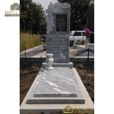 Установка стандартного мраморного памятника в Краснодаре — ritualum.ru